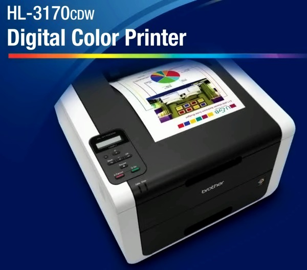 Brother HL-3170 CDW Brilliant Color Laser Printer, AirPrint