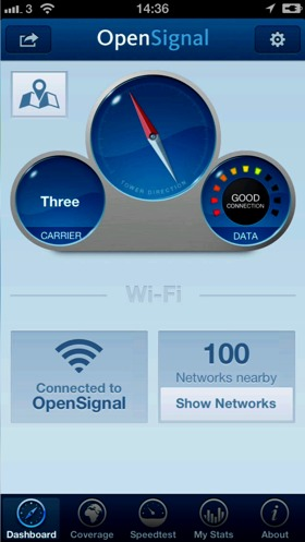 OpenSignal App – The Ultimate Wi-Fi, Cellular, Signal-Strength Meter