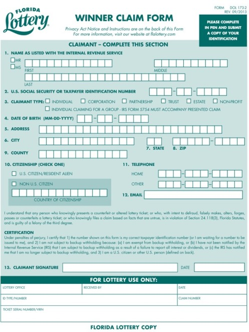 nj lottery claim form 🇺🇸 $1.586 Billion Powerball Wednesday, Jan 13, 2016 • 19th ...